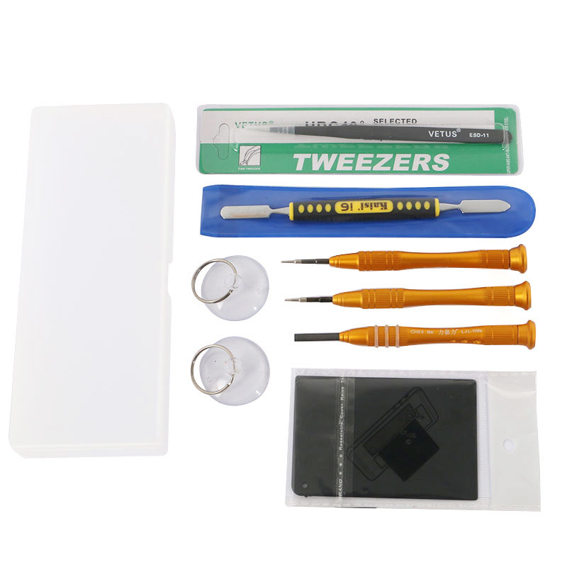 9 in 1 Phone Repair Tools Kit Screwdriver Set ESD Tweezers Battery Opening Tools for iPhone 6s 5s 5 4s FREE Storage Box(China (Mainland))