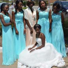 Custom made Long Blue Purple Bridesmaid Dresses casamento 2016 Prom Dress Wedding Party Dress Women vestido longo