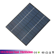 High Quality 5W 12V Solar Cell Solar Module Polycrystalline DIY Solar Panel System Green Power 210*165*3MM Free Shipping(China (Mainland))