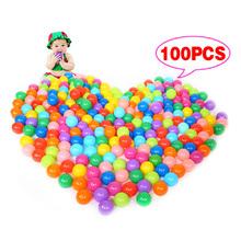100 teile/los Umweltfreundliche Bunte Ball Weichem Kunststoff Ozean Ball Lustige Baby Kind Schwimmen Pit Spielzeug Wasser Pool Ocean Wave Ball(China (Mainland))