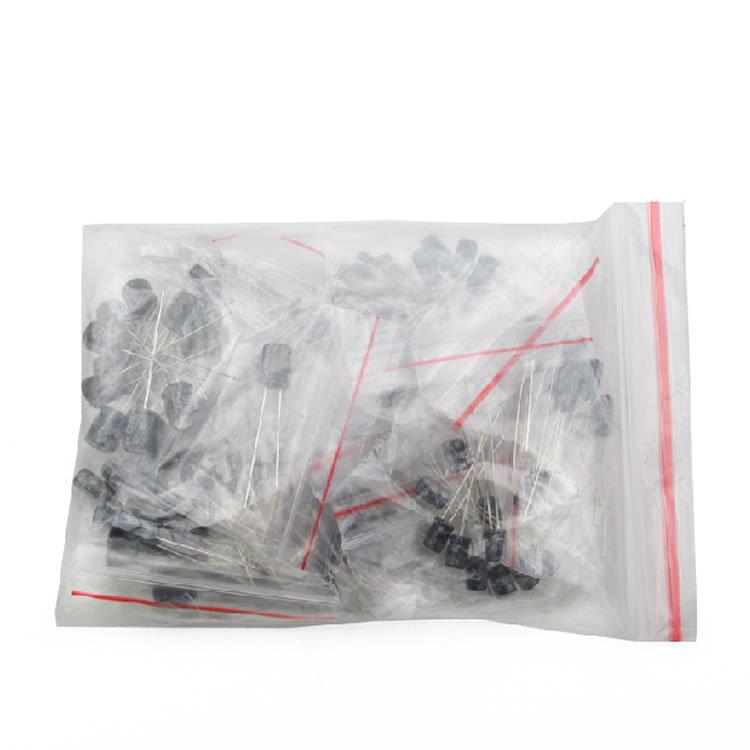 70007 set of 120pcs 12 values 0 22UF 470UF Aluminum electrolytic capacitor assortment kit set pack