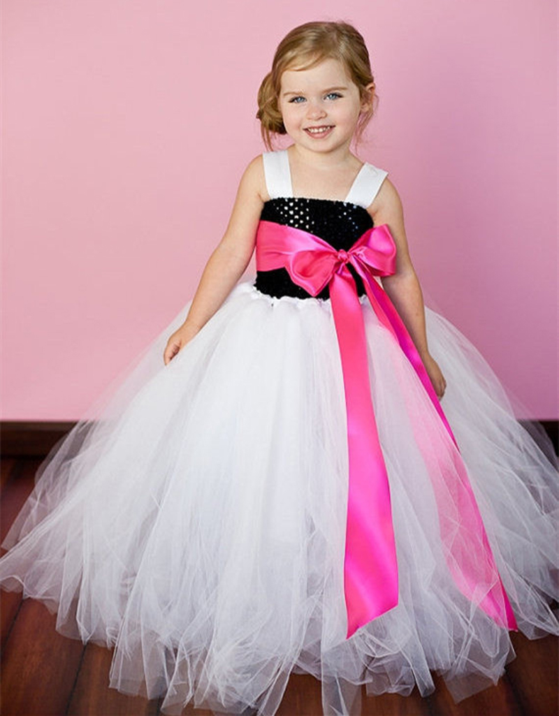 Latest Solid Color Flower Girls Tutu Dress Kids Tulle Dress for Birthday/Wedding/Party Children Girl Ball Gown Tutus(China (Mainland))