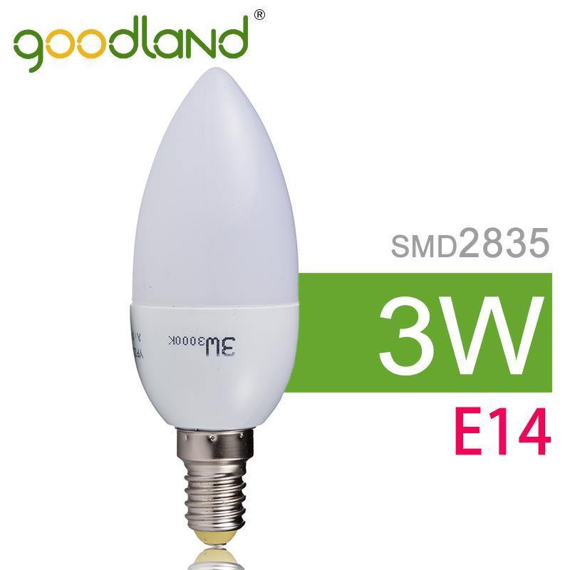 Goodland Brand Wholesale LED Lamp Bulb E14 3W 220V 230V LED Candle Light SMD2835 Bright Lampara Warm White/White 50pcs/lot #10<br><br>Aliexpress