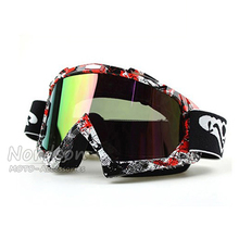 New Goggle UV Protection Stripe Gafas Moto Motorcycle Glasses Motocross Goggles Ski Cross Country Flexible Dirt Bike Goggles(China (Mainland))