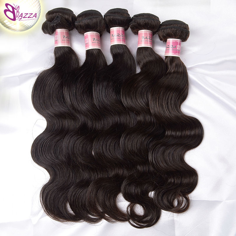 Cheap 100% unprocessed virgin brazilian body wave human hair extension Soft and smooth Natural black virgin brazilian body wave(China (Mainland))
