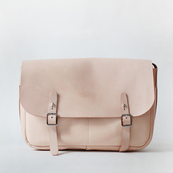 Women's Nude Genuine Leather Bag
