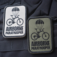 High Quality AIRBORNE Paratrooper Embroidery 3D Badge Patch Morale Military Armband Velcro Backside Tactical Patch 6.5*8.5cm