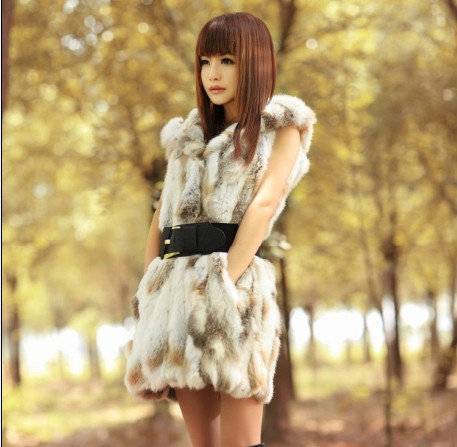 Women's Vintage New Style Gold Buckle Bright PU Leather elastic Belt fur vest coat F-600 - K fashion show co.,Ltd store