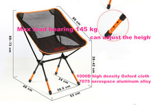 Beach chairs Portable Folding Camping Stool Chair Max load bearing 145 kg silla plegable can adjust the height(China (Mainland))
