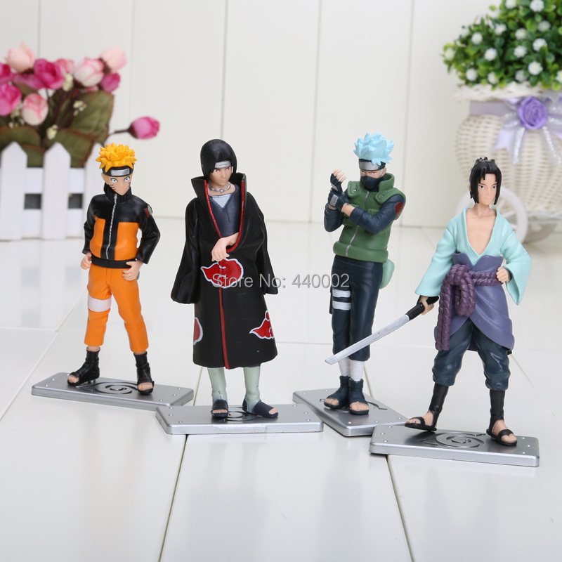 Naruto 12cm/4.7inch Good PVC Anime 17th Generation Naruto Model Toy Action Figure 4pcs/set For Decoration Collection Gift(China (Mainland))