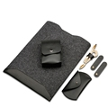 Fashion Leather Pu Mosaic Wool Felt Sleeve For Macbook Pro Retina Air 13 3 11 12