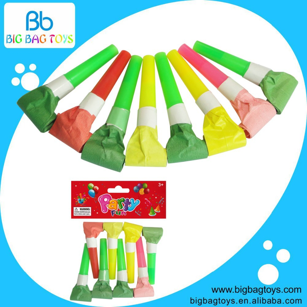 8PCS Blowout Colorful Long Whistle Party Show Decoration Supplies Item fun cute toys(China (Mainland))