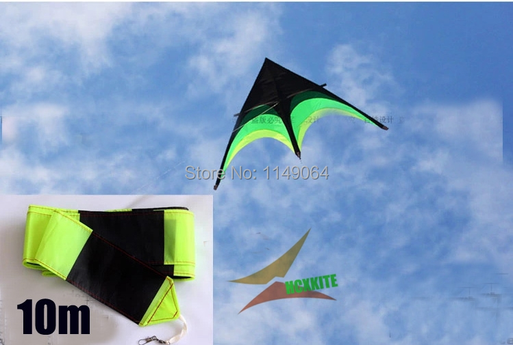 free shipping high quality large delta kite prairie kite toys with10m tails handle line outdoor flying hcxkite rod ripstop wei(China (Mainland))