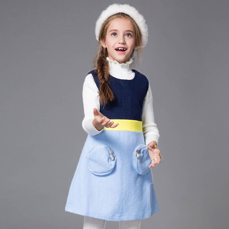 Baby Girl Winter Dress 2015 New American Style Baby Girls Dresses Wool Sleeveless Baby Girl Toddler