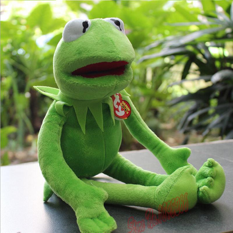 Hot Sale 14'' 40cm 2015 New Kermit Plush Toys Sesame Street Dolls Animal Kermit Toy Plush Frog Dolls Holiday Gift free Shipping(China (Mainland))
