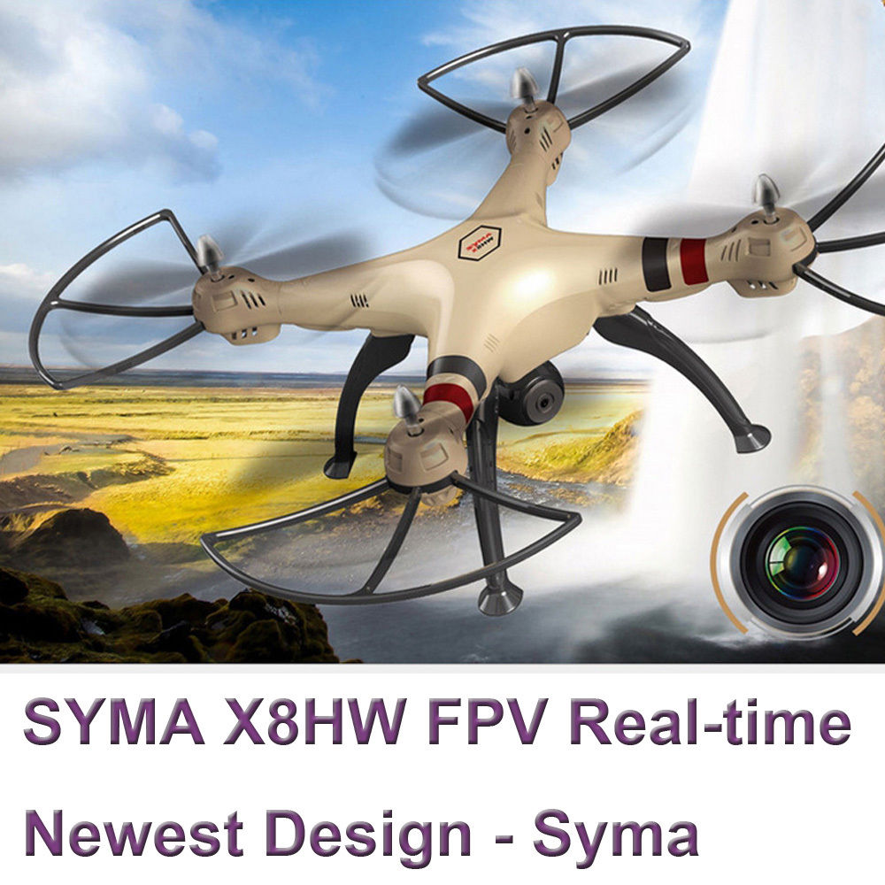 2016 newest Syma large scale rc drone X8HW WIFI FPV With 1MP HD Camera 2.4G 4CH 6Axis Altitude Hold RC Quadcopter vs U818s H11D
