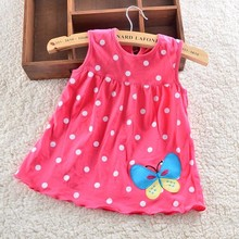 2016 Newborn baby dress, girls dress summer 100% cotton beautiful dresses for baby clothing RE3241(China (Mainland))