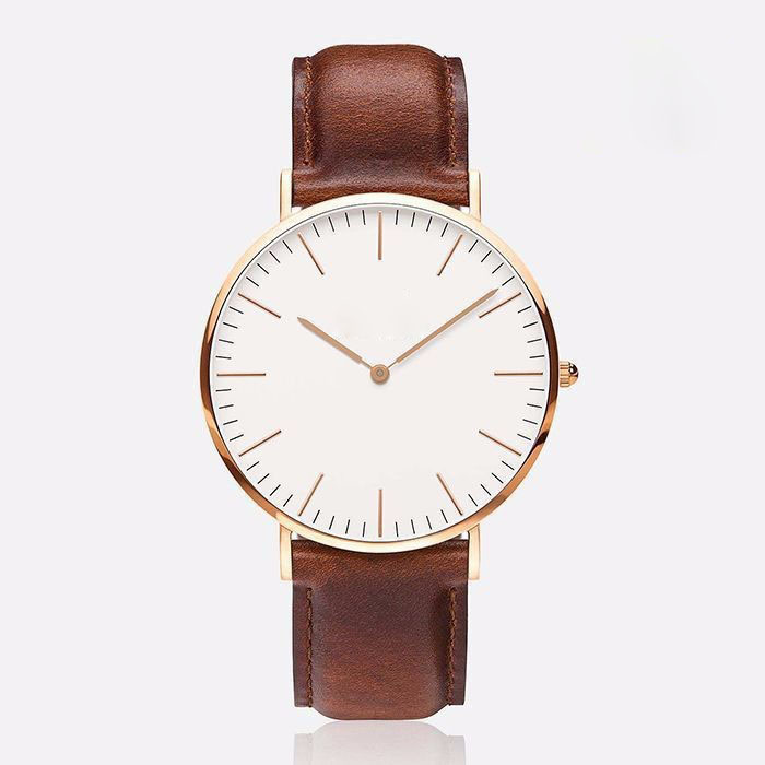 2015 Newest Brand Casual Watch Men Women Leather Sports Military Quartz Wristwatch Clock hombre 40mm