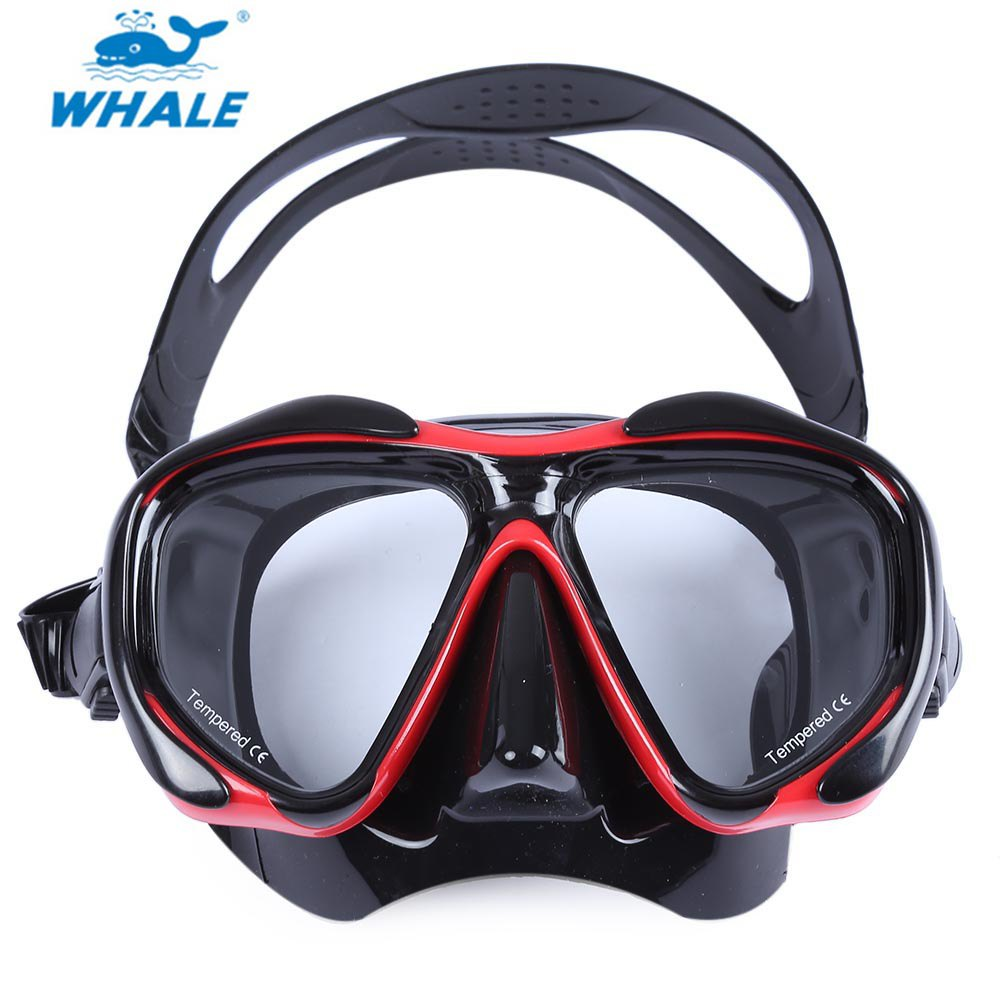New WHALE Professional Scuba Hyperopia Myopia Diving Swimming Mask With Tempered Glass lens(China (Mainland))