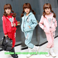 New kids girl sweet brand cotton suit for 3 14 year girls winter warm clothing children