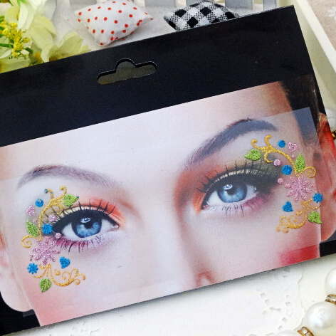 Catching Artistic eye mask Lace Face blue heart eyeliner sticker false eyelashes.18.22542-8.Free shipping(China (Mainland))