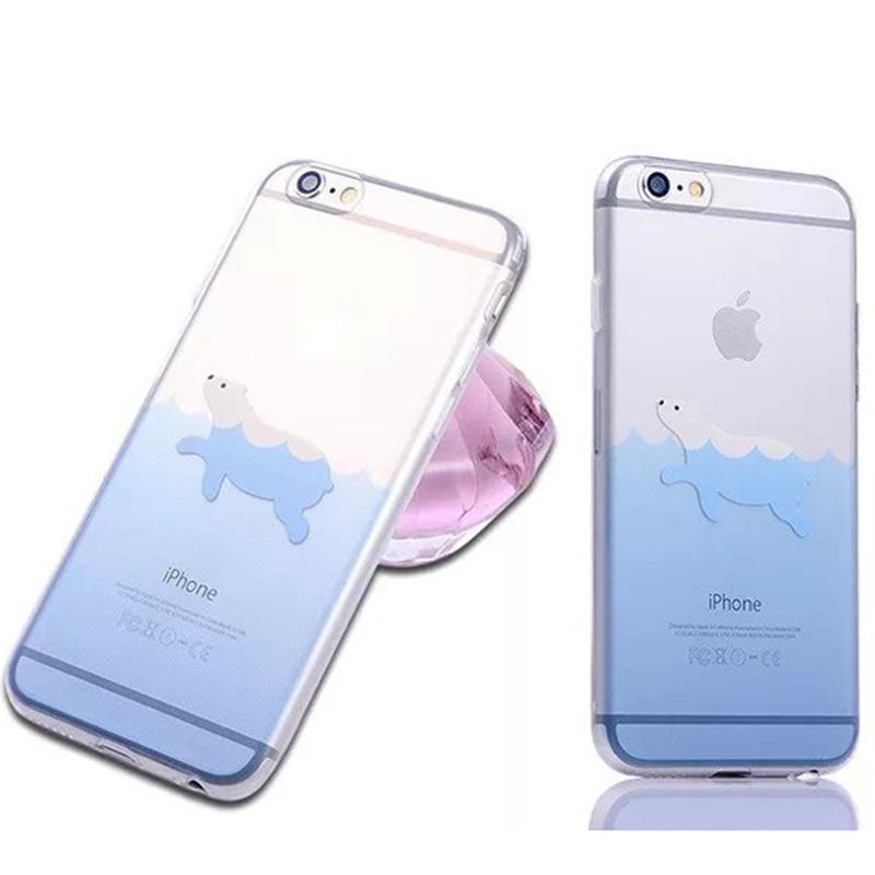 Fashion trend Small fresh marine animal style Hard plastic Phone case For iphone6 4.7 inch(China (Mainland))