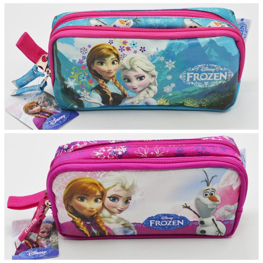 boy girl frozenn pencil case bag pouches School pen case bag Pouchescute 2 zipper children student pen sack stationery gift(China (Mainland))