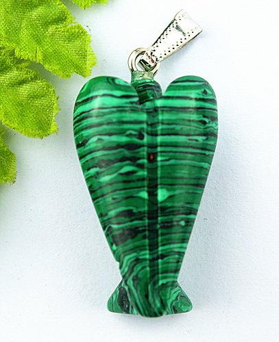 Wholesale 1PC Manual sculpture beautiful malachite angel pendant bead B065(China (Mainland))