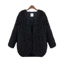 2015 Autumn Winter Women Lady Full Faux Fur Short Coat Cardigan Jacket Long Sleeve Outwear Tops Chaquetas Mujer(China (Mainland))