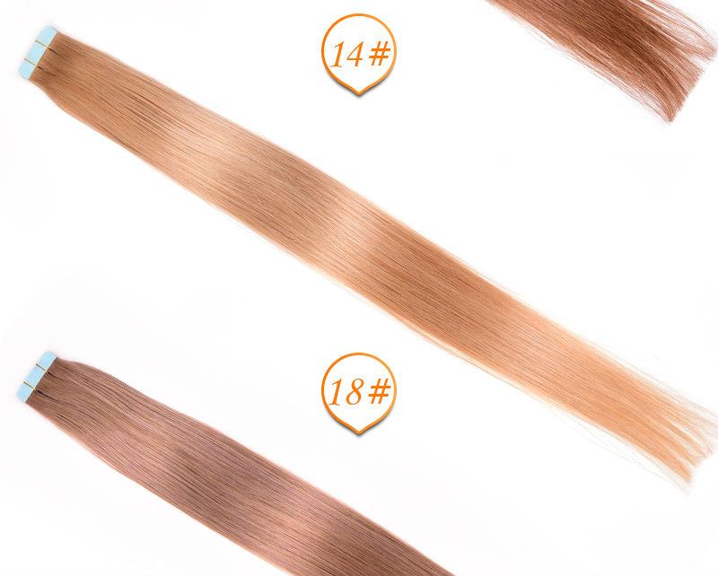 20 22 Incgh 10pcs/set Tape Hair Extension Straight 7 colors Tape Hair Skin Weft 7A Indian Straight Human Tape Extension