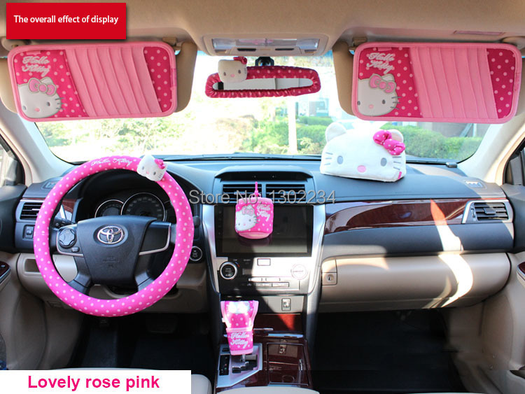 irror accessories car covers rearview mirror set 2015 hot sale pink cartoon hello kitty steering. Black Bedroom Furniture Sets. Home Design Ideas