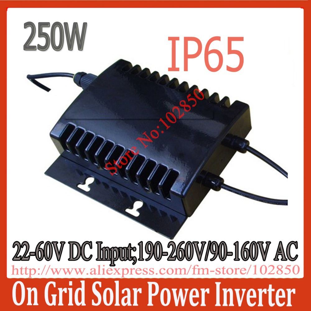 2013New Arrival Water Proof Grid Tie Solar Inverter,Out Door Installation Design, IP65 stackable small on grid inverter(China (Mainland))