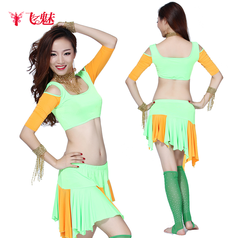 of the new spring and summer flying belly dance belly dance costumes exercise suit suit high-end costume color practice(China (Mainland))
