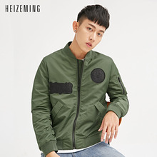 Buy HEIZEMING 2017 New Spring Mens Jackets Coats Appliques Homme Military Mens Jacket Brand Casual Dark Coat Male Clothing for $38.99 in AliExpress store