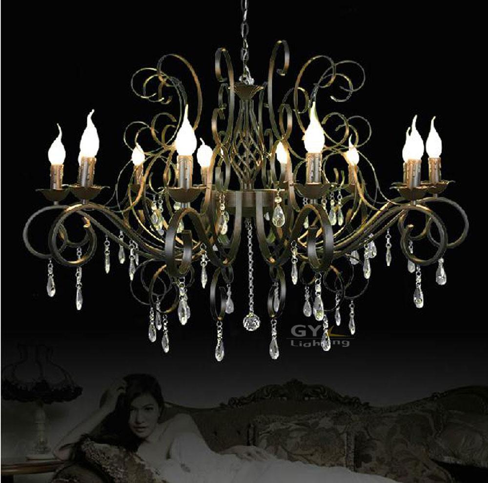 ac100 240v 10pcs e14 105 40cm candle crystal chandelier hanging lustre art deco pendant lamps. Black Bedroom Furniture Sets. Home Design Ideas