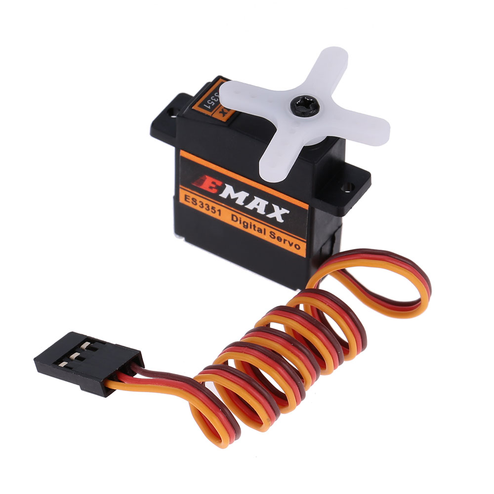 Brand EMAX ES3351 9mm Plastic Digital micro Servo for RC Fixed-wing Glider Parts(China (Mainland))