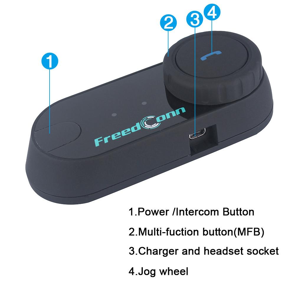 1 pc FreedConn TCOM-OS FM BT Bluetooth Motorcycle Helmet Intercom Interphone Moto Headset + Soft Earphone