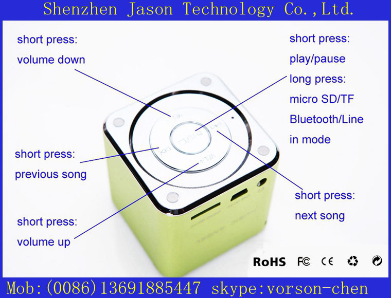 portable woofer speaker bluetooth(China (Mainland))