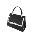Classic Black And White Retro Handbag 2016 New Fashion Bowknot Contrast Color Flap Bag Retro Panelled