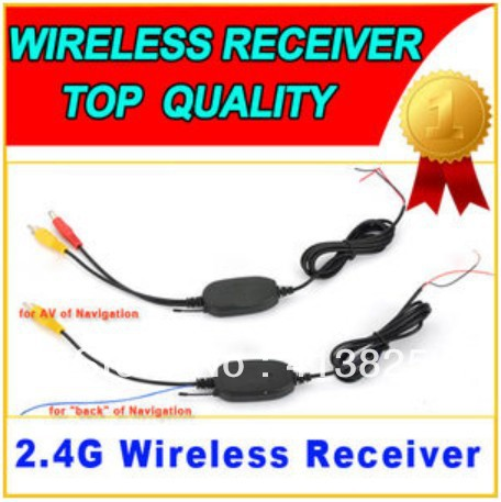 2.4G GHZ Wireless RCA Video Transmitter Receiver Car Reverse Camera Monitor GPS free shipping(China (Mainland))