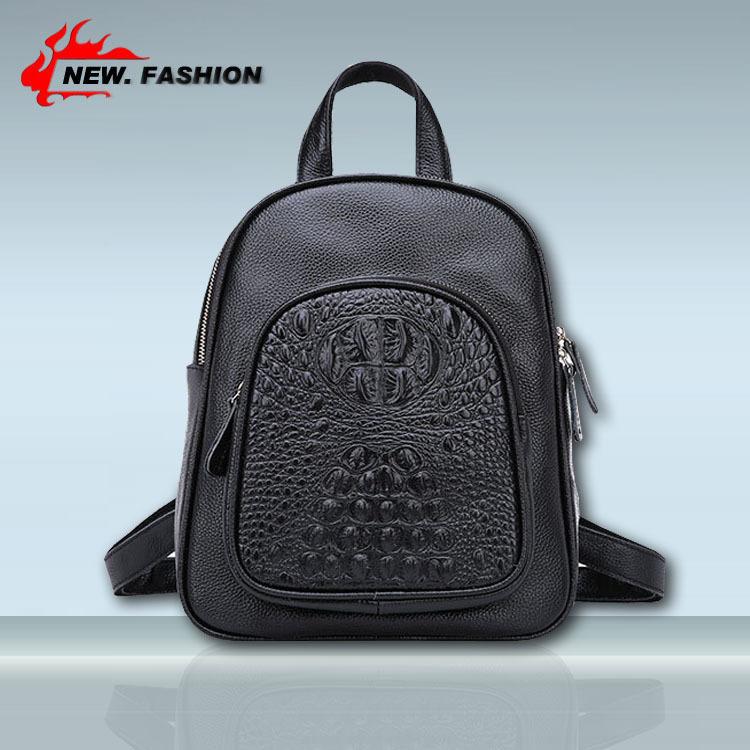 New 2015 Fashion vintage women handbag crocodile pattern genuine leather bag shoulder women messenger bags Drop Shipping 151496