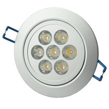 1PC LED Indoor Lighting Ceiling Down Light 7W Recessed Fixture Warm White Cabinet Spot 110v 220v. Free & Drop Shipping(China (Mainland))