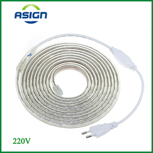 LED Strip Light SMD 5050 AC220V LED Strip Flexible 60leds/m Waterproof LED Light With Power Plug 1M/2M/5M/6M/8M/10M/15M/2(China (Mainland))