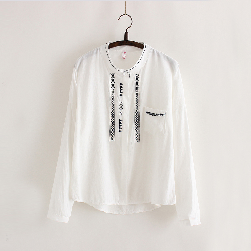 Women linen t shirt real photos long sleeve o neck for Long linen shirts for womens
