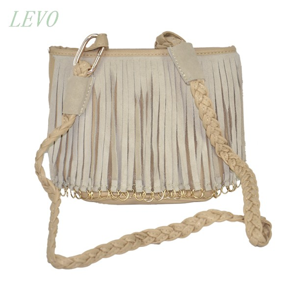 Ladies handbag small bag woven Shoulder Strap leather bag tassel Shoulder side bags for womens 50(China (Mainland))