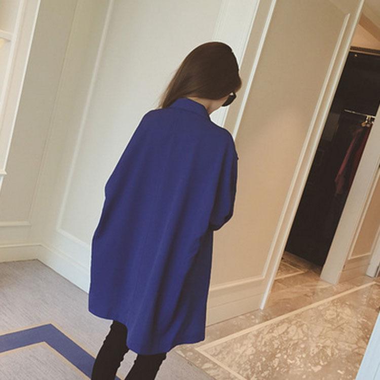 Три четверти плащ пальто 4 цвета весна осень приталенный женщины длинная кардиган пальто C1429