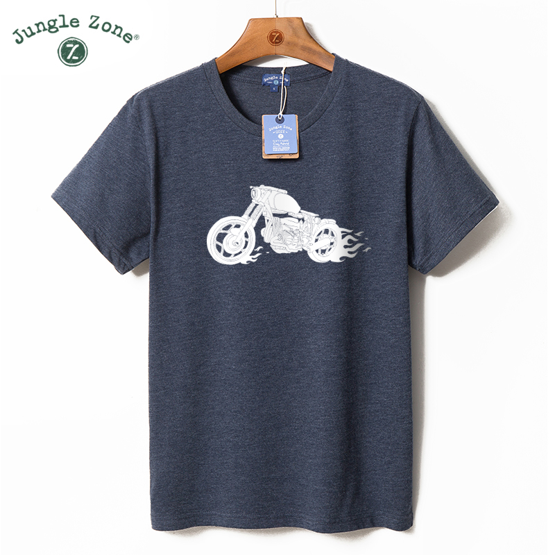 JNGLE ZONE Men's plus size T-shirt Motorcycle enthusiasts t shirt design O-Neck short t-shirt mens tshirts Casual men tops TA034