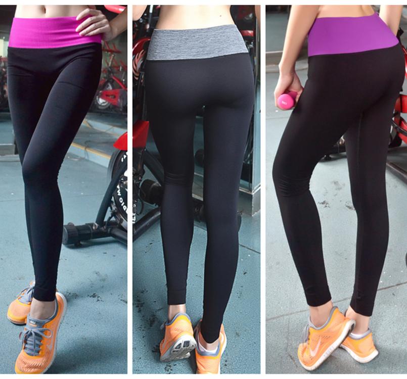Cyber Monday Sports Pants Force Exercise Women Sports Yoga Tights Elastic Fitness Running black gray orange(China (Mainland))