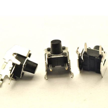 6x6x5/6/7/8/9/10/12MM Right Angle 4PIN Tactile Tact Push Button Micro Switch Direct Plug-in Self-reset DIP Free Shipping