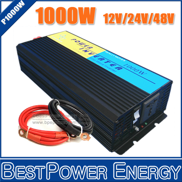 HOT SALE!! 1000W Off Grid Inverter DC12V/24V/48V Pure Sine Wave Inverter, Off Grid Wind Solar Power Inverter Converter(China (Mainland))